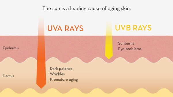 The sun is a leading cause of aging skin.