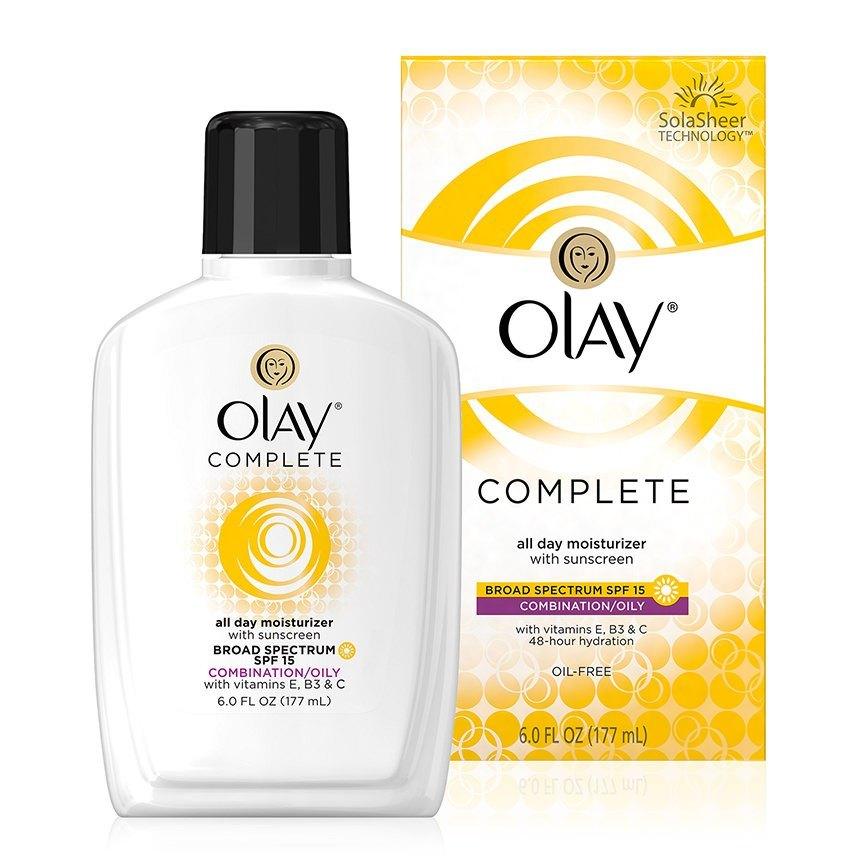 Olay Complete Lotion Moisturizer with SPF 15 Oily, 6.0 fl oz Beauty Flash Balm