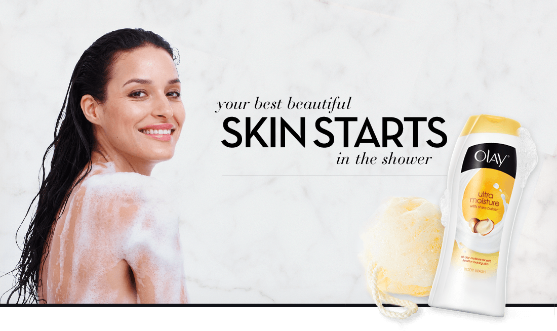 your best beautiful SKIN STARTS in the shower